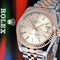 Rolex Datejust 31 18k Rose Gold & Steel Watch Pink Dial...