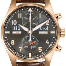 IWC Pilot Spitfire Perpetual Calendar Digital Date-Month Roségoud 46mm Grijs Arabisch