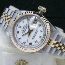 Rolex Lady-Datejust pre-owned 26mm White Date Perpetual calendar Gold/Steel