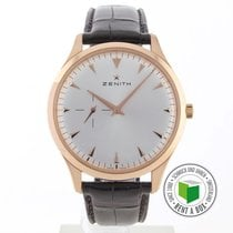 Zenith Red gold Automatic Silver No numerals 40.5mm pre-owned Elite Ultra Thin