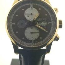 Mido Multifort Chronograph Gold/Stahl 44mm Braun Keine Ziffern