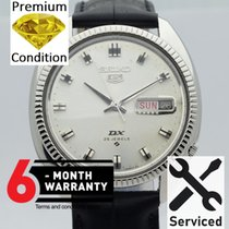 Seiko 5 Steel 36mm Silver No numerals