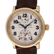 Ulysse Nardin Yellow gold Automatic Silver Arabic numerals 36mm pre-owned Marine