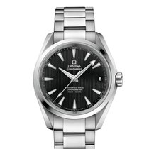 Omega Steel Automatic Black No numerals 38.5mm new Seamaster Aqua Terra