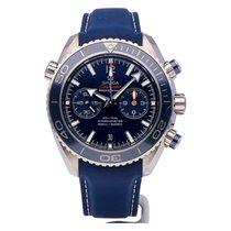 Omega Seamaster Planet Ocean Chronograph Tytan 45.5mm Niebieski Arabskie