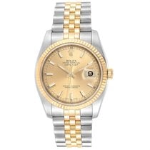 Rolex Datejust Staal 36mm Champagne