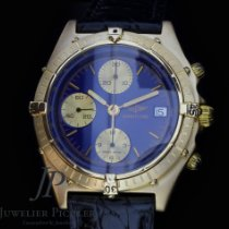 Breitling Chronomat Yellow gold Blue No numerals