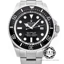 Rolex Sea-Dweller Deepsea Steel 44mm Black No numerals