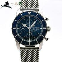 Breitling Superocean Héritage II Chronographe Stahl 46mm Blau