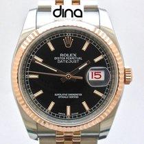 Rolex Datejust Guld/Stål 36mm Svart