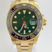 Rolex GMT Master II 18k Yellow and Steel Green Dial MINT