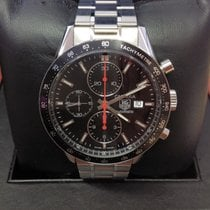 7a6fb44469f35 TAG Heuer Carrera Calibre 16 pre-owned 41mm Black Chronograph Date Steel