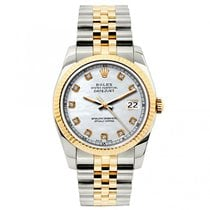 Rolex Datejust Ladies' 26mm White Dial Gold And Stainless...