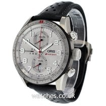 Oris Audi Sport pre-owned 44mm Silver Chronograph Date Leather