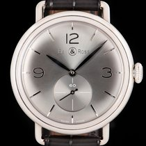 Bell & Ross Prata 41mm Corda manual BRWW1-70 usado