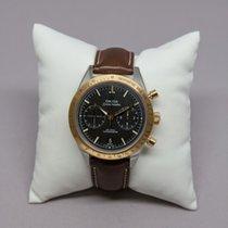 Omega Speedmaster '57 gebraucht 41.5mm Schwarz Chronograph Datum Leder