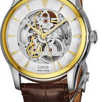 Oris Artelier Skeleton new Automatic Watch with original box and original papers 73476704351LS73