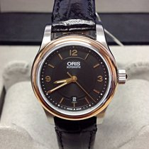 Oris Classic Steel 28.5mm Black No numerals