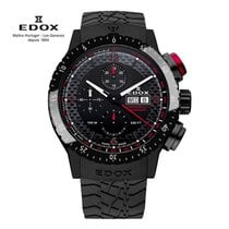 Edox Chronorally Steel 45mm Black Arabic numerals