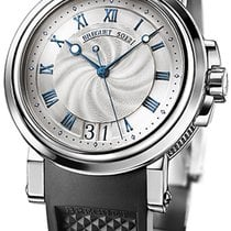 Breguet 39mm Automatic 2011 pre-owned Marine Silver