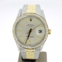 Rolex Oyster Perpetual Date 15053 Sehr gut Gold/Stahl 34mm Automatik