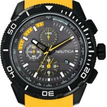 Nautica new Quartz 46mm Steel Mineral Glass