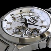 Seiko Premier Kinetic Perpetual Steel 40mm Roman numerals