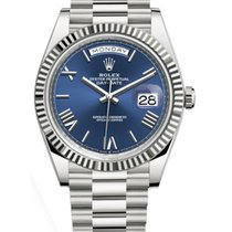 Rolex Day-Date 40 Oro blanco 40mm Azul