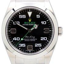 Rolex Air-King 116900 40mm Black Arabic Green Hand Stainless...