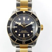 Tudor Heritage Black Bay 41mm steel gold bracelet LC100 like NEW