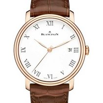 Blancpain 6630-3631-55B Villeret 8 Days Automatic in Rose Gold...