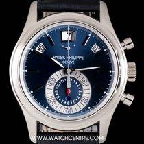 Patek Philippe Platinum Blue Dial Annual Calendar Chrono...