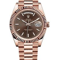 Rolex Day-Date 40 Chocolate Dial 18K Everose Gold 228235