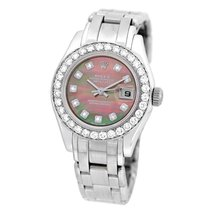 Rolex 18K White Gold 29mm Masterpiece Pearlmaster Factory...