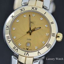 TAG Heuer Link Lady pre-owned 29mm Champagne Date Gold/Steel