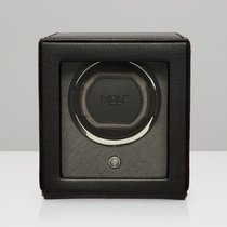 WOLF Cub with cover single watch winder cube Black