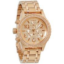 Nixon 38-20 Chrono Rose Gold Dial Stainless Steel Ladies Watch...