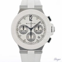 Bulgari Diagono Acero 40mm Blanco
