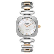 GUB Glashütte Steel Quartz GLASHUTTE Pavonina  Women's Watch new