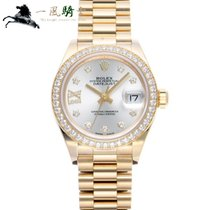 Rolex Lady-Datejust Oro amarillo 28mm Plata