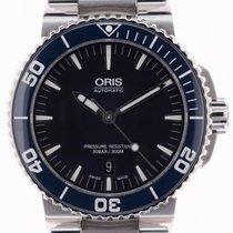 Oris Aquis Date Steel 43mm Black No numerals