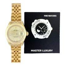 Rolex Lady-Datejust Or jaune 28mm Argent Sans chiffres