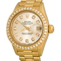 Rolex Lady-Datejust Yellow gold 25mm Silver No numerals