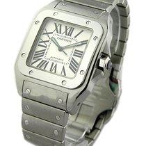 Cartier W200737G Santos 100 Large Size in Steel - on Steel...