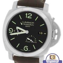 Panerai Luminor 1950 GMT 3 Day PAM 321 Black Automatic 44mm Watch