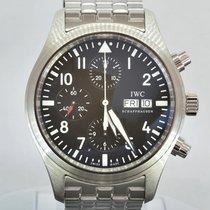 IWC Pilot Spitfire Chronograph Black Dial (bracciale in acciaio)