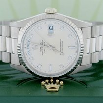 Rolex President Day-Date White Gold 36MM Factory Diamond...