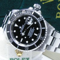 Rolex Men's Steel Submariner Date Black Dial & Bezel  Boxes Books