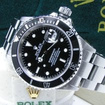 Rolex Men's Steel Submariner Date Black Dial & Bezel  Boxes Books