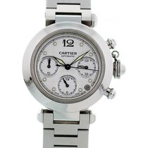 Cartier Chronograph 36mm Automatic 2000 pre-owned Pasha C White